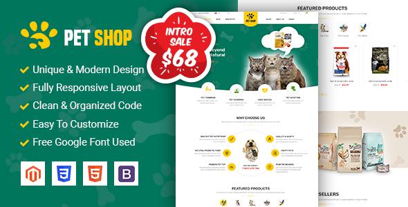 PetShop - Beautiful Responsive Magento 2 Theme