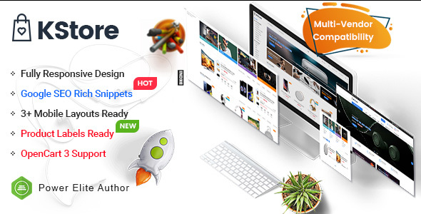 KStore - Multipurpose OpenCart 3 Hi-Tech Theme ( 3 Mobile Layouts Included)