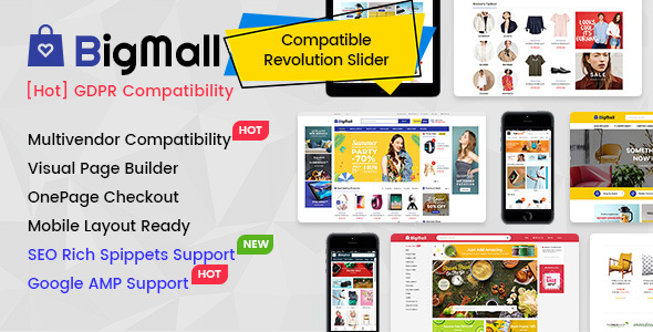 BigMall - Multipurpose OpenCart 3 Theme with Mobile-Specific Layouts