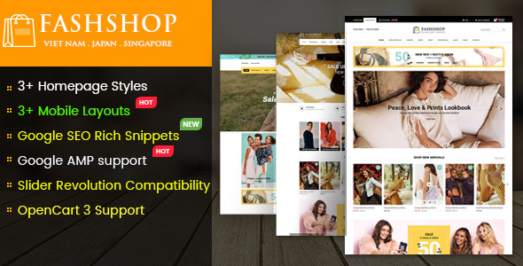 FashShop - Multipurpose Responsive OpenCart 3 Theme with Mobile-Specific Layouts