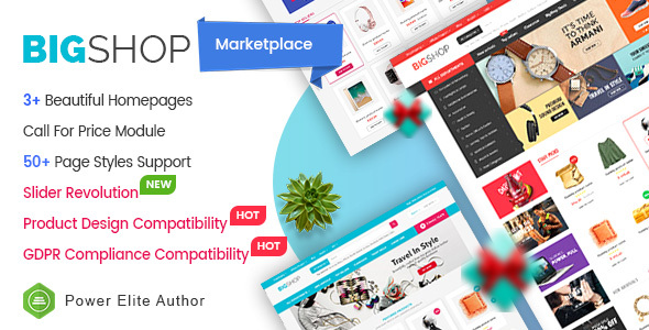 BigShop - High Customizable Responsive OpenCart 3 Marketplace Theme