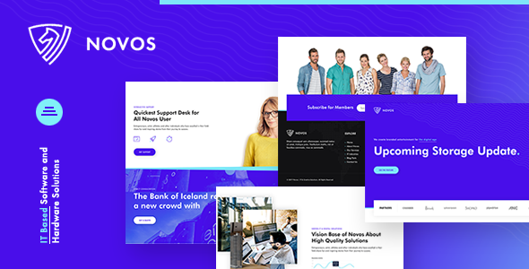 Download Novos | IT Company & Digital Solutions WordPress Theme Free Nulled