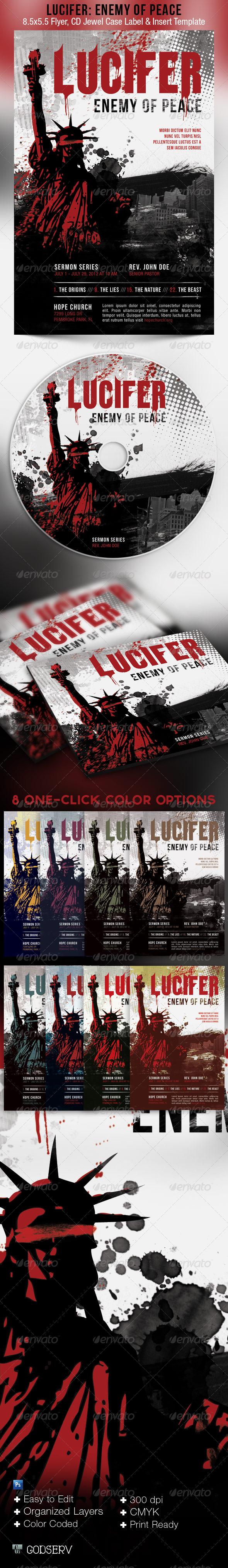 Peace Enemy Flyer CD Template - Church Flyers