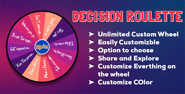 Decision Maker - Spin the Wheel Random Name Picker   Android App   Admob Ads