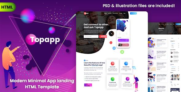 Wondrous Topapp - App Landing Page