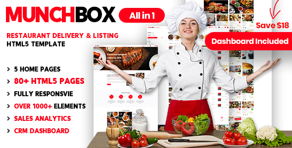 Munchbox | Restaurant Listing HTML Template