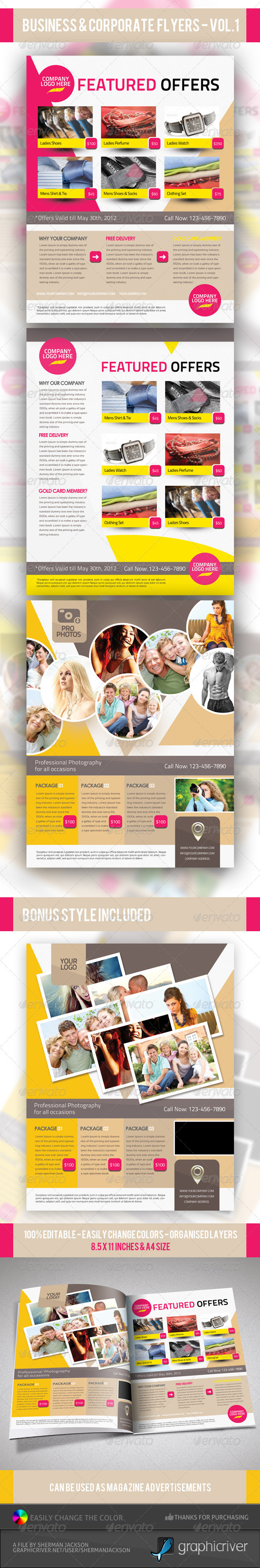 Business & Corporate Product Flyer PSD Templates - Commerce Flyers