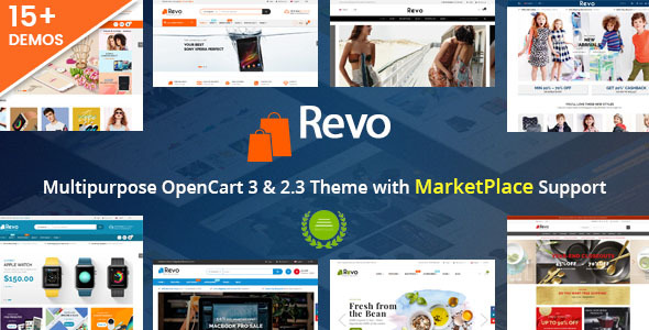 Revo – Drag & Drop Multipurpose OpenCart 3 & 2.3 Theme with 15 Layouts Ready