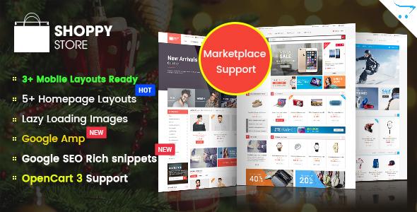 ShoppyStore – Responsive Multipurpose Marketplace OpenCart 3 and 2.x Theme