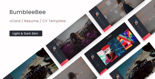 BumbleBee - vCard / Resume / CV Template by beingeorge