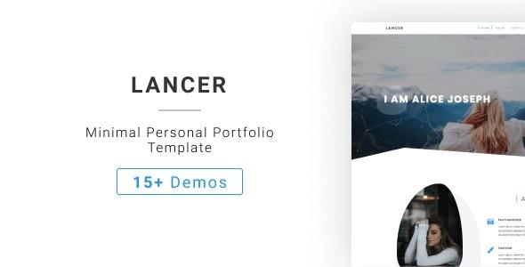 Fabulous Lancer - Minimal Personal Portfolio Template