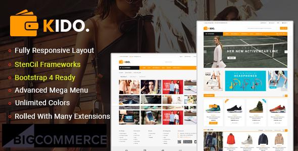 Kido – Creative Multipurpose  Stencil BigCommerce Bootstrap 4 Theme | Google AMP Ready