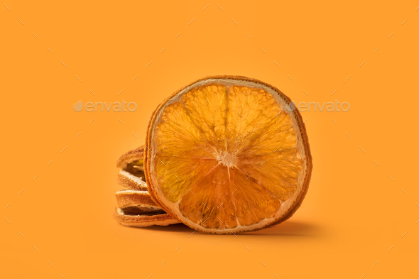 Christmas spice dried orange - Stock Photo - Images