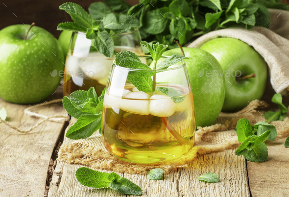 Cold apple drink - Stock Photo - Images