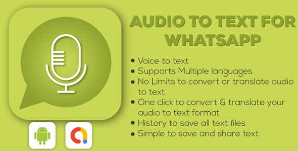 Voice To Text For Whatsapp    Admob Ads Android Full Application   Write SMS by voice   Voice Typing