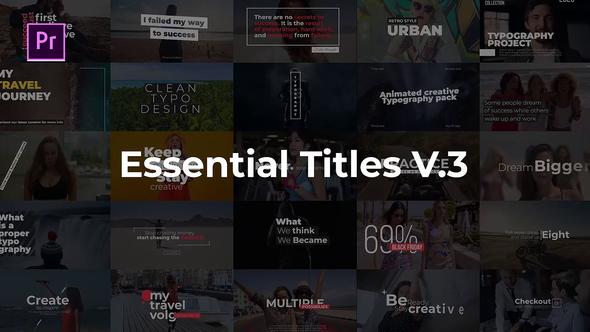Essential Title V.3