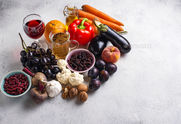 Antioxidants in products. Clean eating - Stock Photo - Images