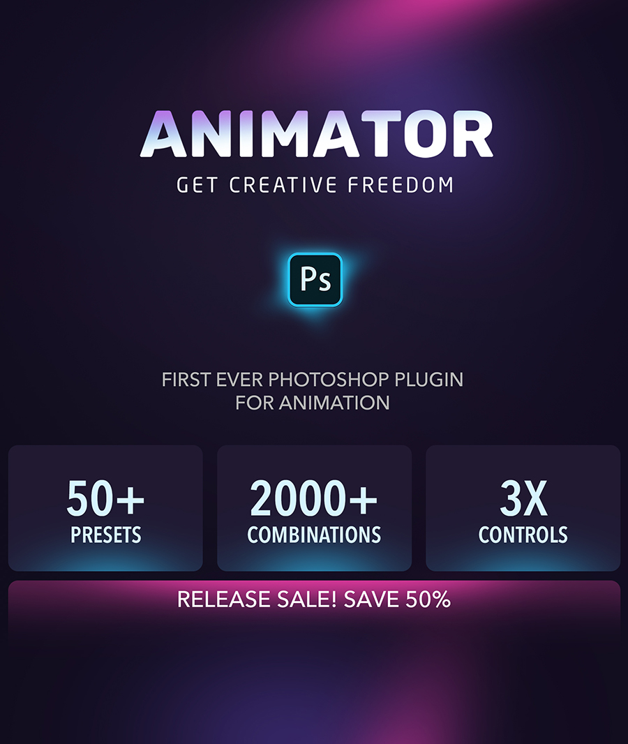 Animator Photoshop Plug-in for Animated Effects