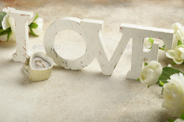 Diamond Ring for Valentines Day - Stock Photo - Images