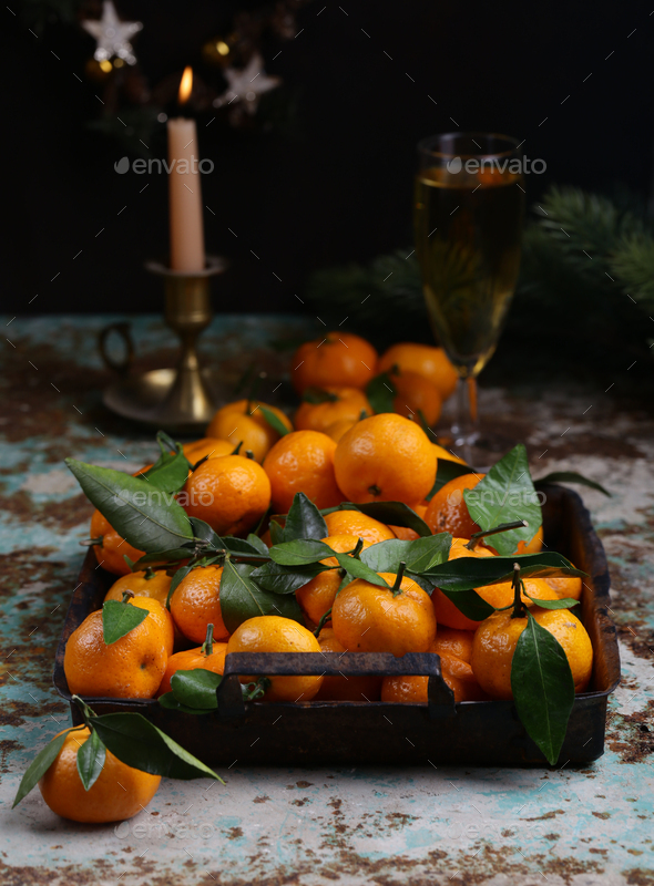 Organic Natural Tangerines - Stock Photo - Images