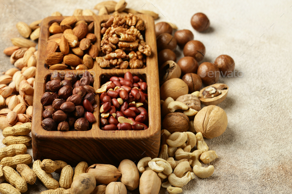 Nuts Mix for Healthy Eating - Stock Photo - Images
