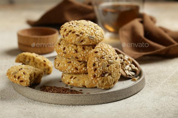 Natural Organic Cookies - Stock Photo - Images