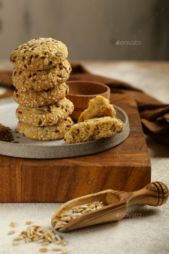Natural Organic Cookies - Stock Photo - Images
