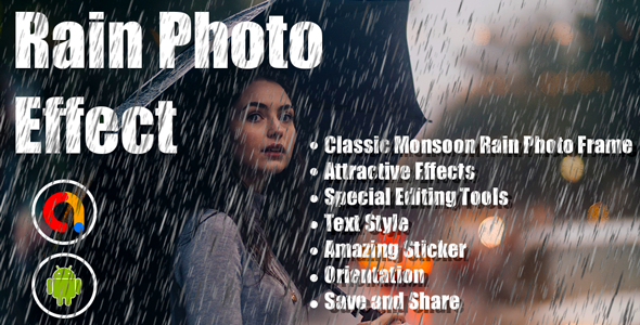 Rain Photo Effect   Pic Editor   Rain Effects & Filters   Android Full App Code   Admob Ads