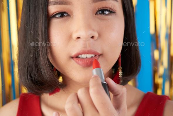 Applying make-up - Stock Photo - Images
