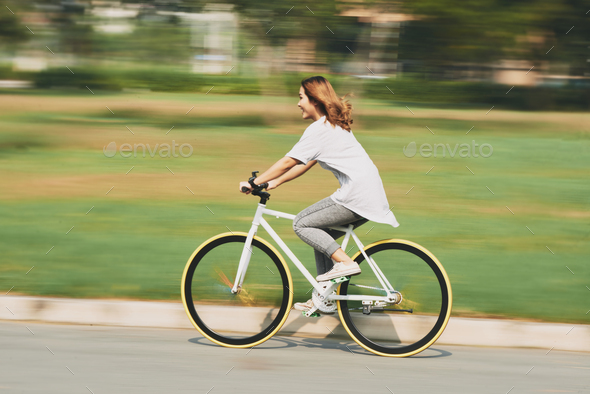 Cycling at high speed - Stock Photo - Images
