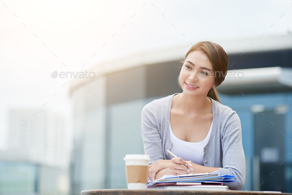 Pensive business woman - Stock Photo - Images