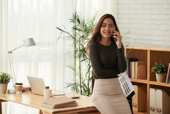Business woman working in office - Stock Photo - Images