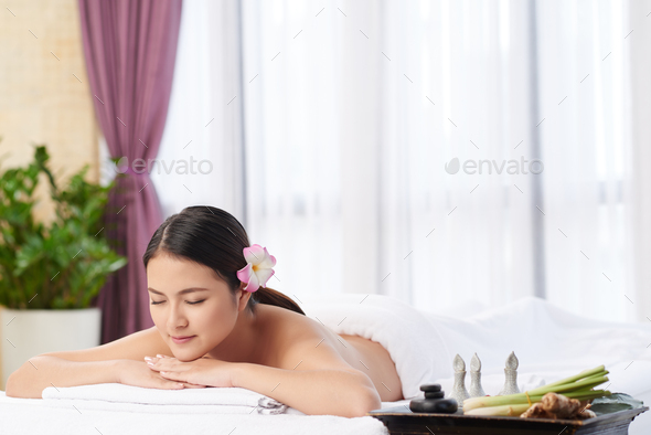Spending day in spa - Stock Photo - Images