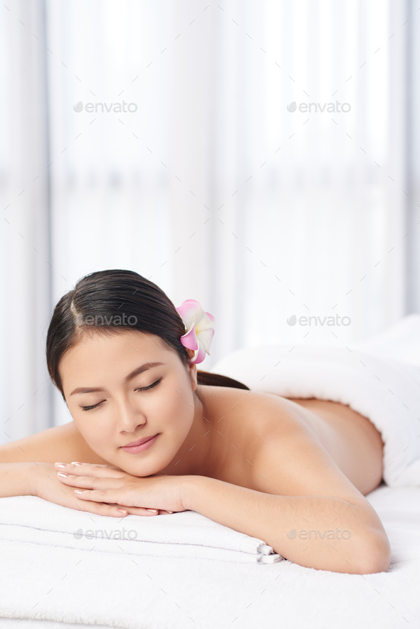 Resting in spa salon - Stock Photo - Images
