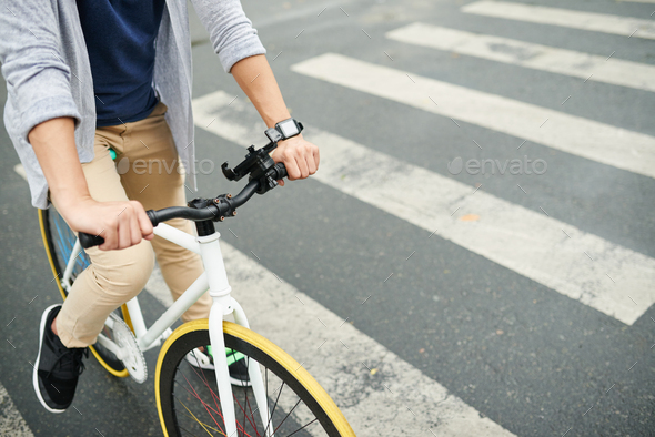 Cycyling in the city - Stock Photo - Images