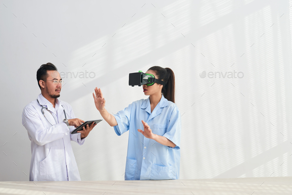 Testing virtual reality - Stock Photo - Images