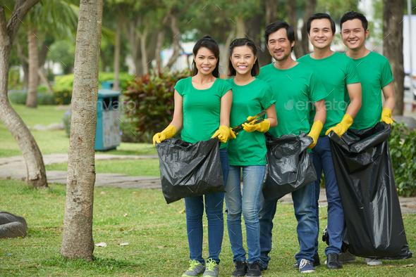 Green volunteers - Stock Photo - Images