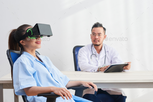 Testing VR of patient - Stock Photo - Images