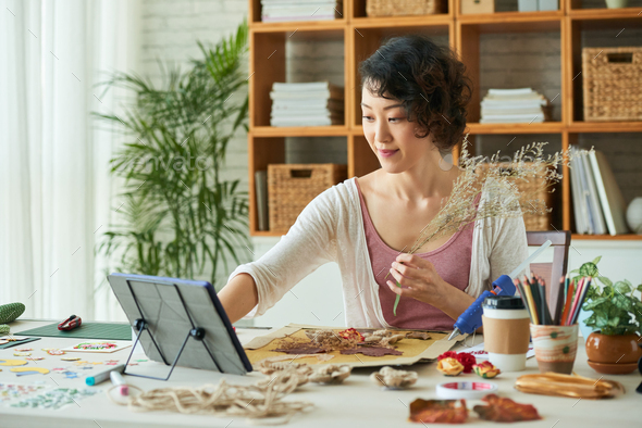 Making Herbarium at Home - Stock Photo - Images