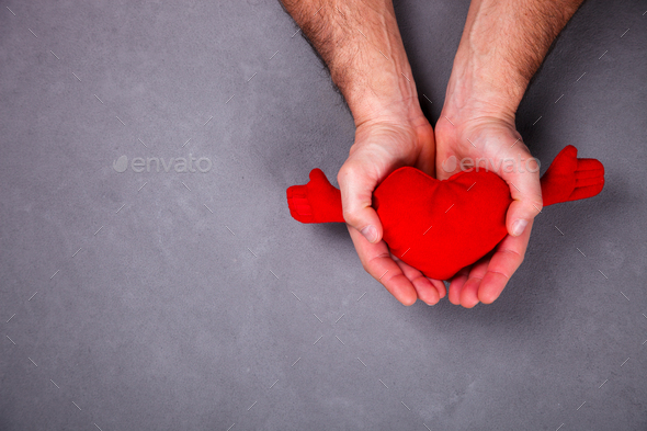 Holiday gift Valentine's Day. Concept of Love,Happiness ,Romance - Stock Photo - Images
