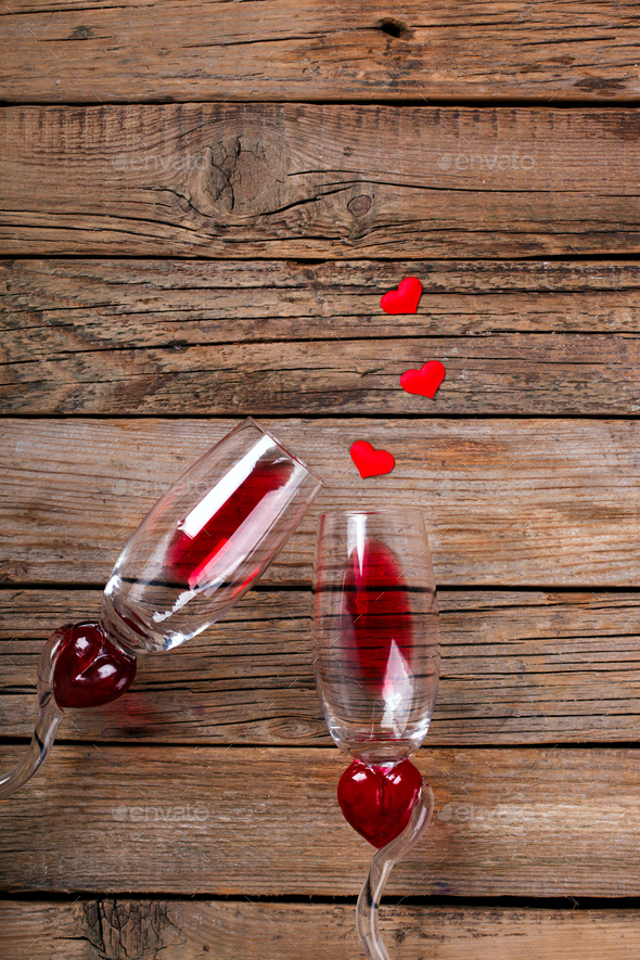Red Wine .Holiday Valentine Day.Greeting Card,Gift. - Stock Photo - Images
