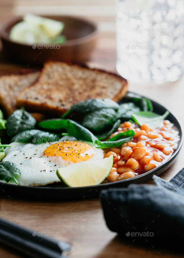 Healthy breakfast or lunch at home or cafe - Stock Photo - Images