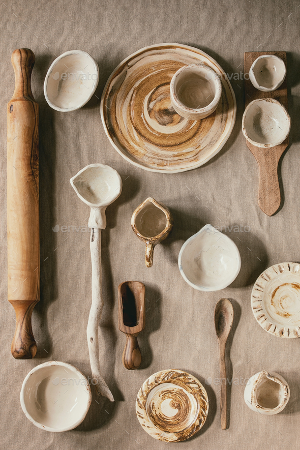Variety of ceramic dishes - Stock Photo - Images