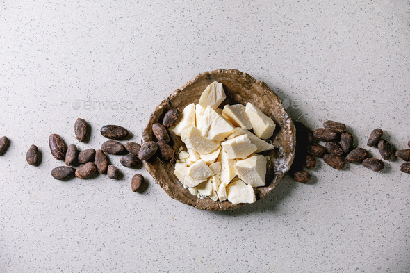 Chopped cocoa butter - Stock Photo - Images