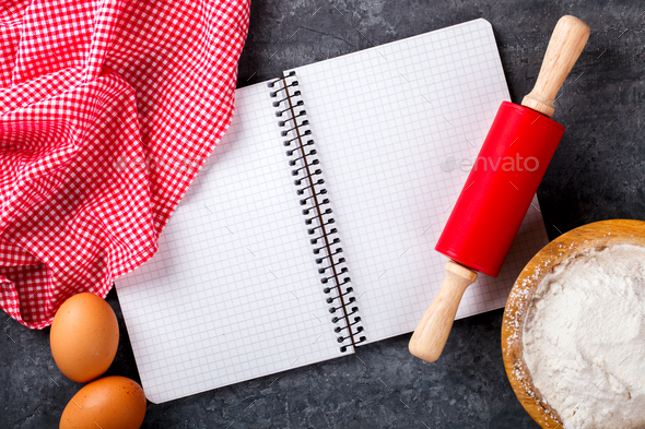 Background of Baking ingredients.Concept Holiday - Stock Photo - Images