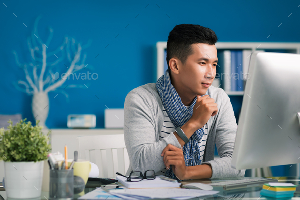 Checking e-mails - Stock Photo - Images