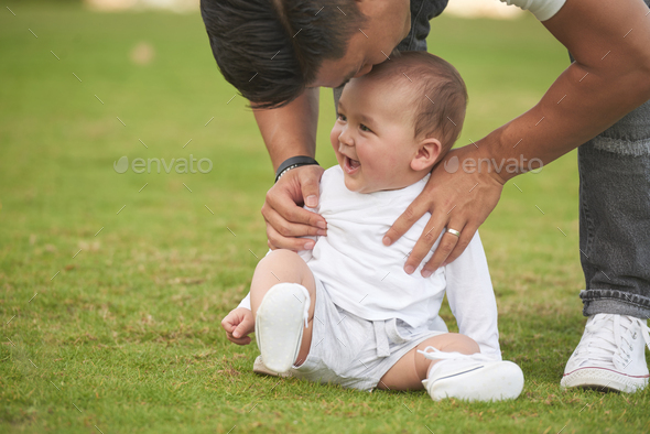 Kissing little son - Stock Photo - Images