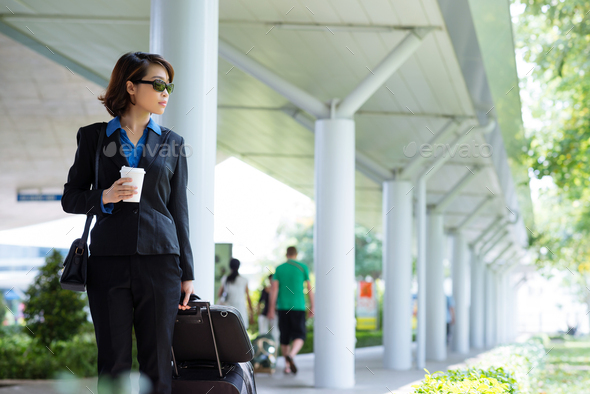 Traveling business woman - Stock Photo - Images