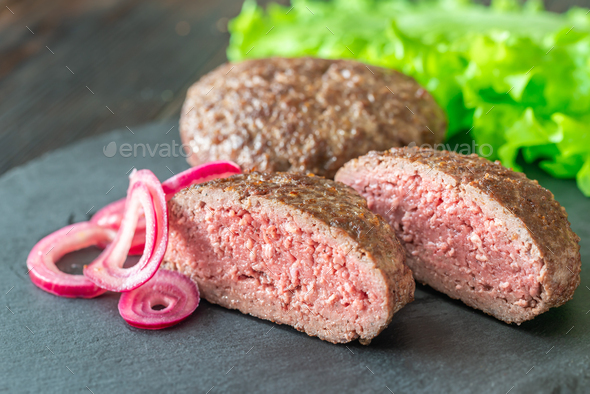 Hamburg steak - Stock Photo - Images