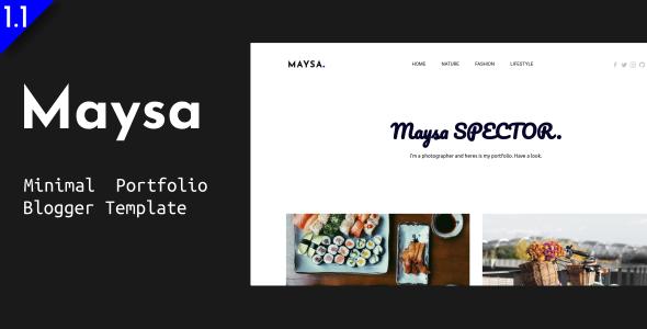 Maysa - Minimal Portfolio Blogger Template by EnterStudios